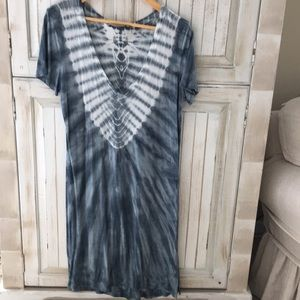 Cotton, tie-dye T-shirt dress